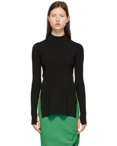 Черный открытый длинный свитер с открытой спиной Sportmax