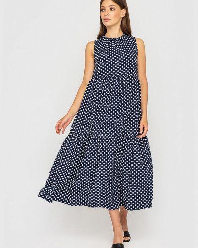 Прямое платье - синее Sfn