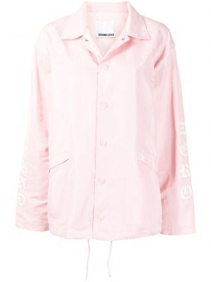 Розовая куртка с воротником на кнопках Ground Zero
