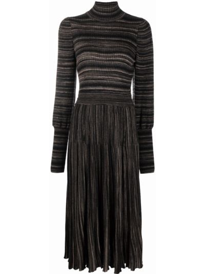 Платье макси с длинными рукавами - коричневое Antonino Valenti