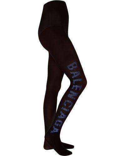 Черные колготки высокие Balenciaga