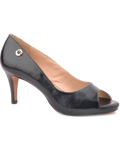 Кожаные туфли на каблуке Werner