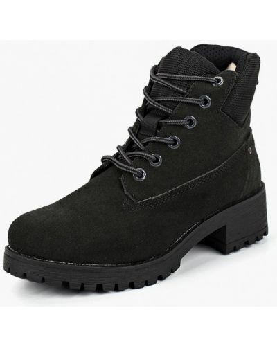 Ботинки на каблуке осенние замшевые Keddo