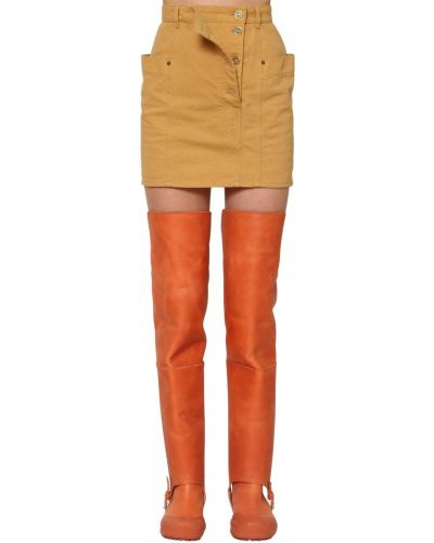 Джинсовая юбка - желтая Jacquemus