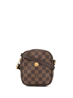 Коричневая сумка через плечо квадратная с перьями на молнии Louis Vuitton