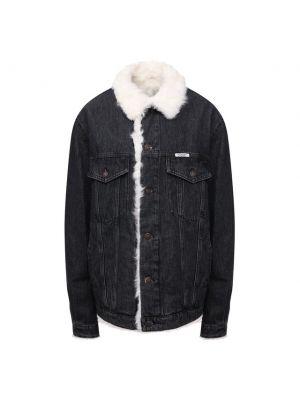 Джинсовая куртка из овчины - серая Forte Dei Marmi Couture