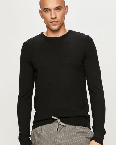 Czarny sweter wełniany z długimi rękawami Clean Cut Copenhagen