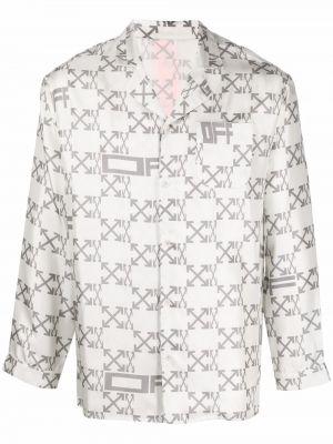 Piżama z długimi rękawami - biała Off-white