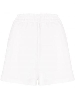 Хлопковые белые спортивные шорты эластичные с высокой посадкой Sir.