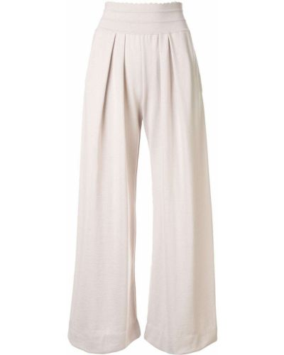 Розовые укороченные брюки с поясом свободного кроя Molli