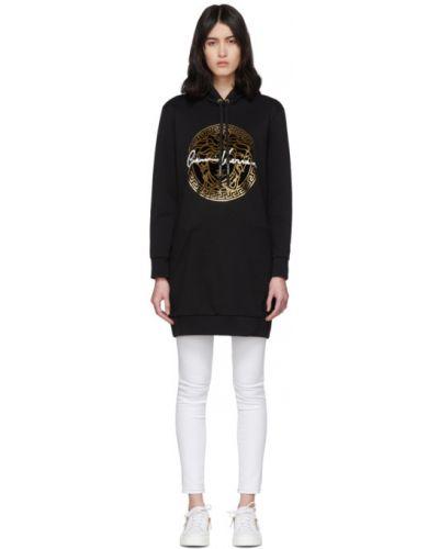 Платье макси с капюшоном вязаное Versace