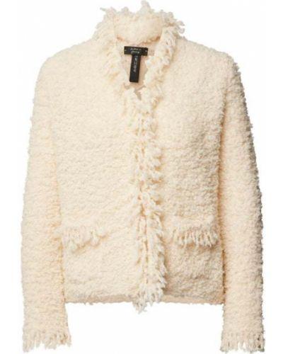 Biały sweter z frędzlami Marc Cain