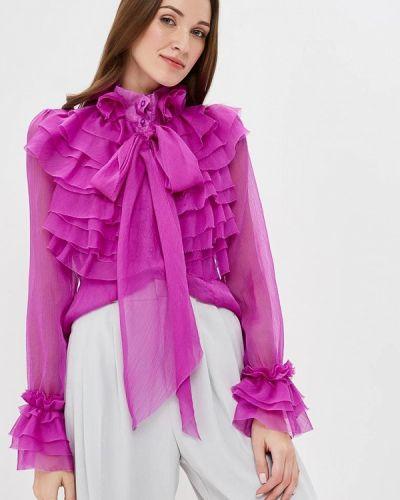 Фиолетовая блузка с оборками Paccio