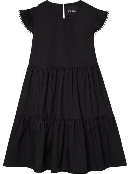 Хлопковое черное платье без рукавов Marc Jacobs