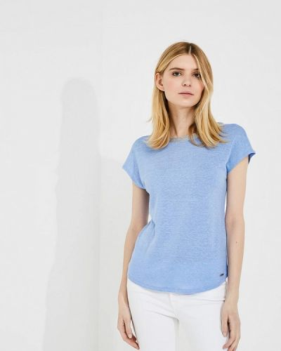 Голубая футболка Armani Exchange