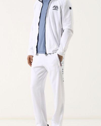 Белый спортивный костюм с вышивкой Paul&shark