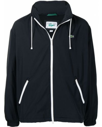 Куртка с капюшоном - черная Lacoste