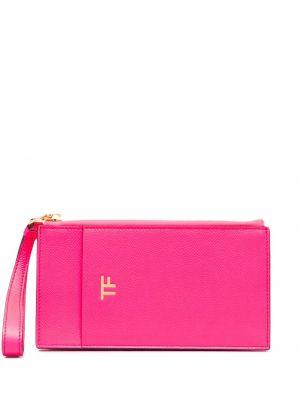 С ремешком розовый кожаный кошелек Tom Ford