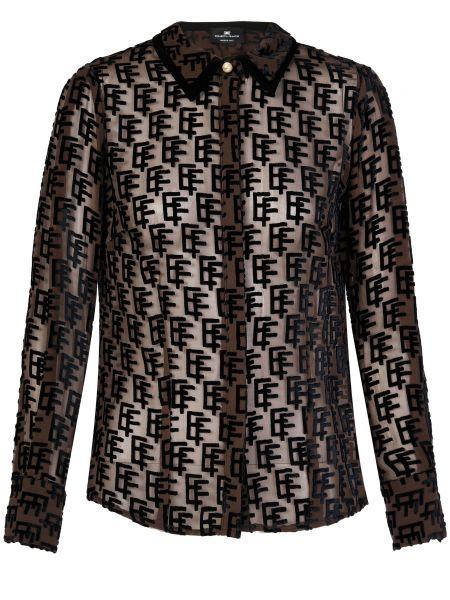Блузка шелковая из вискозы Elisabetta Franchi