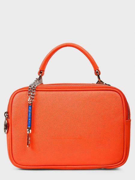 Кожаная сумка - красная Sara Burglar
