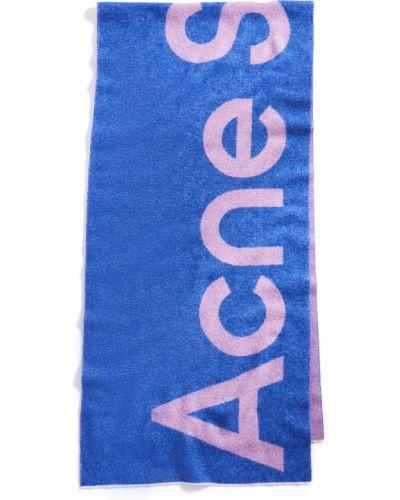 Fioletowy szalik wełniany Acne Studios