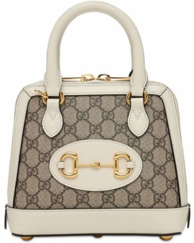Кожаная сумка с ручками на молнии с карманами Gucci