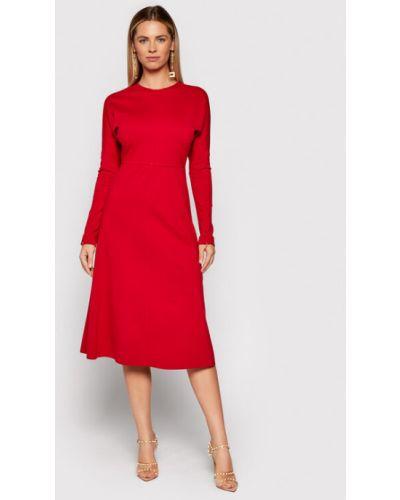 Czerwona sukienka casual Liviana Conti