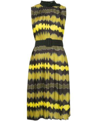 Плиссированное желтое платье Wynn Hamlyn