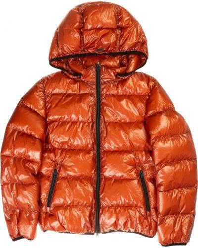Płaszcz puchowy z kapturem - pomarańczowy Herno