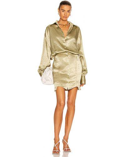 Satynowa sukienka koszulowa Marianna Senchina