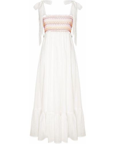 Платье миди с вышивкой на бретелях Zimmermann