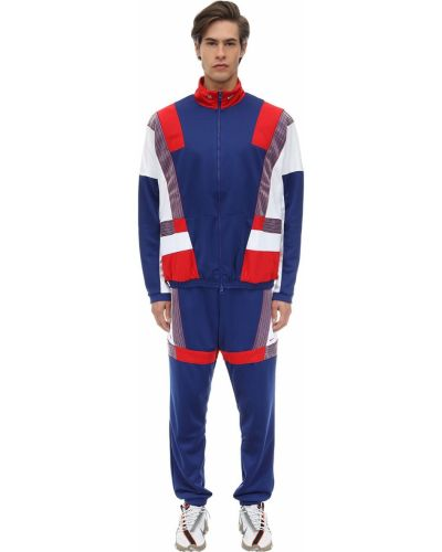 Синий спортивный костюм с манжетами на резинке Nike