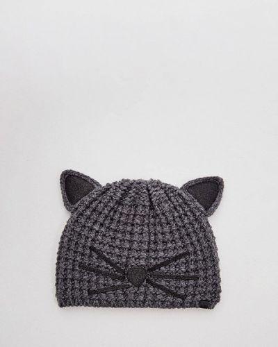 Серая шапка осенняя Karl Lagerfeld