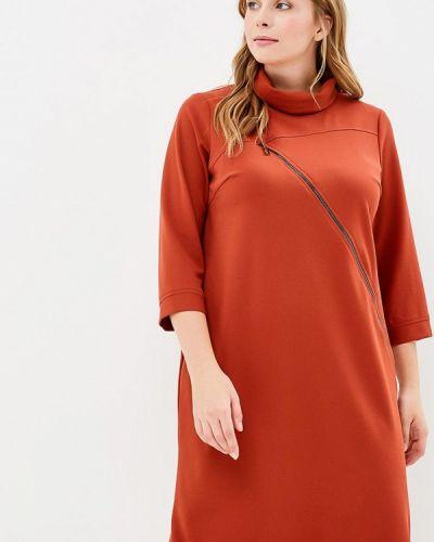 Оранжевое платье прямое Indiano Natural