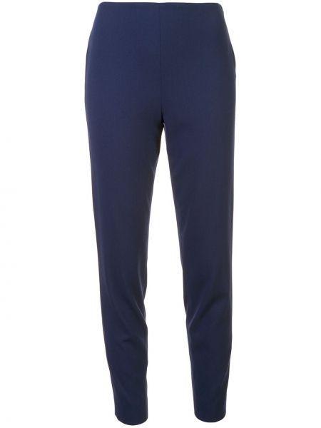 Шерстяные синие брюки на молнии Ralph Lauren Collection