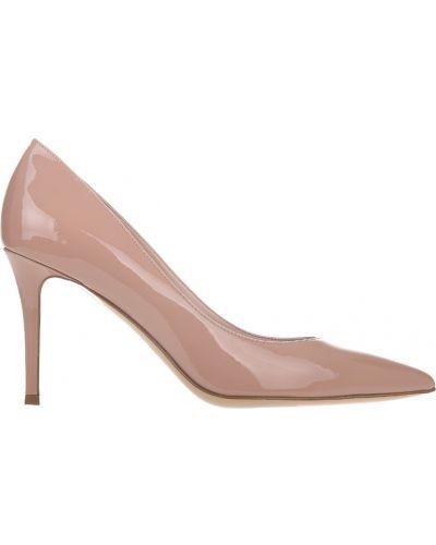 Туфли на каблуке кожаные розовый Fabio Rusconi