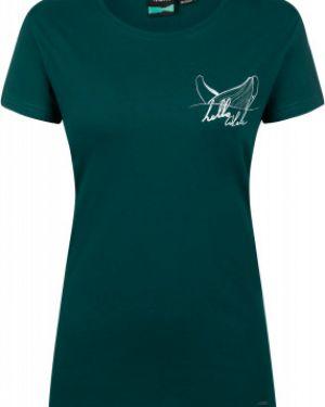 Зеленая хлопковая футбольная прямая спортивная футболка Termit