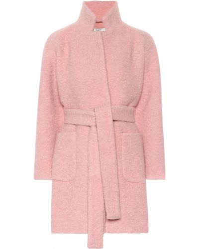 Шерстяное розовое пальто Ganni