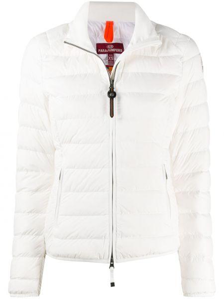 Белая куртка на молнии двусторонняя с воротником Parajumpers