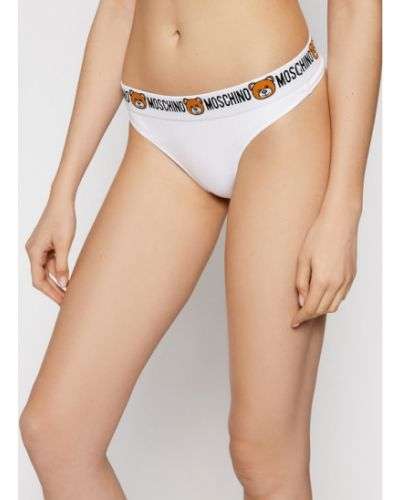 Stringi - białe Moschino Underwear & Swim