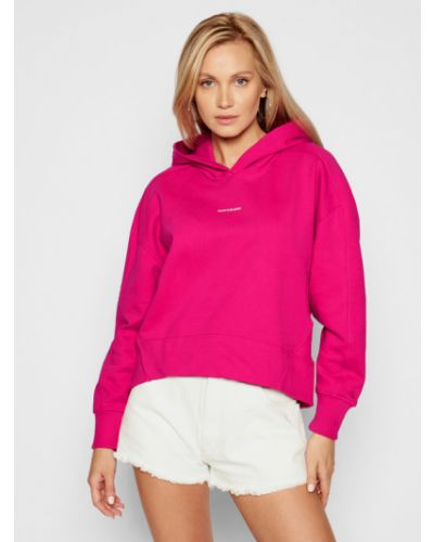 Różowa bluza oversize Calvin Klein Jeans