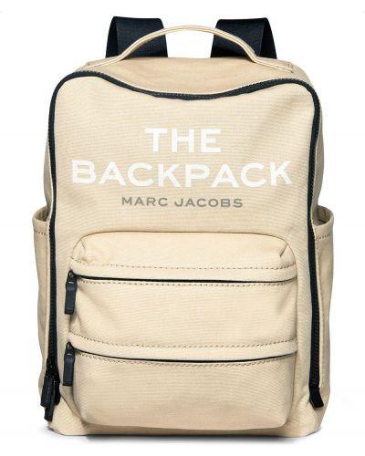 Plecak bawełniany - beżowy Marc Jacobs