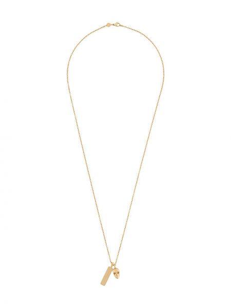 Золотистое желтое ожерелье металлическое с черепами Northskull