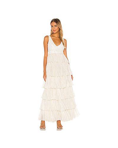Белое шелковое платье на молнии с подкладкой Nbd