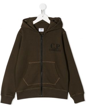 Толстовка коричневый Cp Company Kids