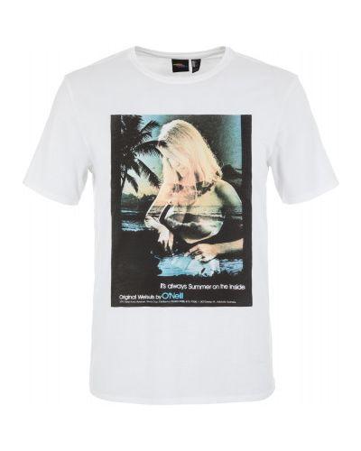 Спортивная футболка хлопковая белая O`neill