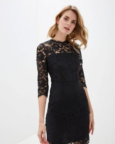 Вечернее платье осеннее черное Lusio