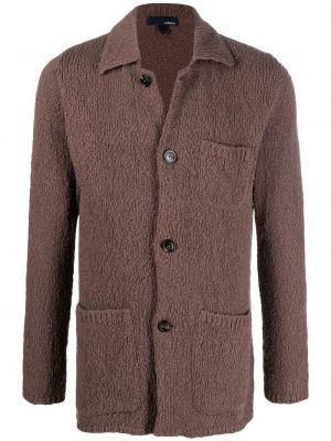 Klasyczny brązowy kardigan bawełniany Lardini