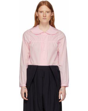 Блузка с длинным рукавом на резинке с воротником-стойкой Comme Des Garcons Girl