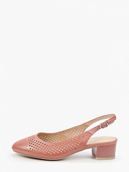 Кожаные туфли с открытой пяткой коралловый Thomas Munz